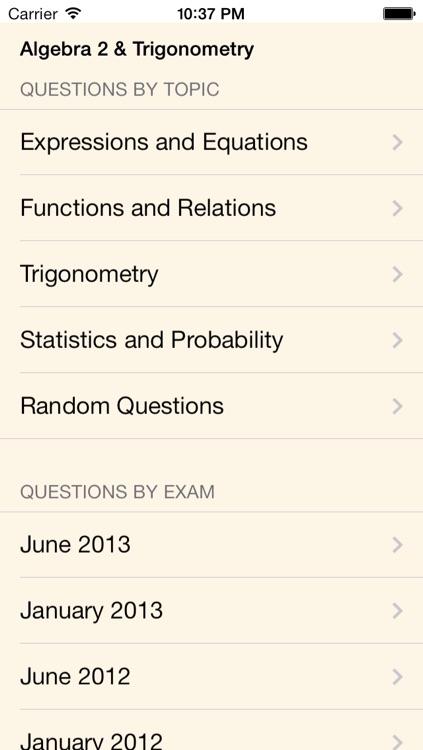 New York State Regents Review- Algebra 2 & Trigonometry