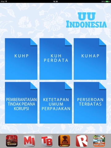 UU Indonesia iPad