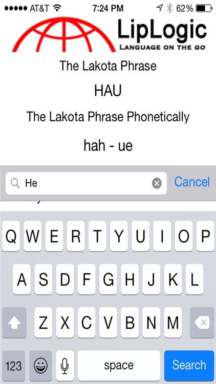 LipLogic Lakota Words and Phrases
