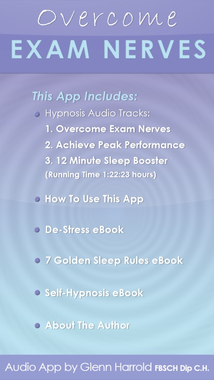 Overcome Exam Nerves by Glenn Harrold: Self-Hypnosis Relaxation for Exam Stress