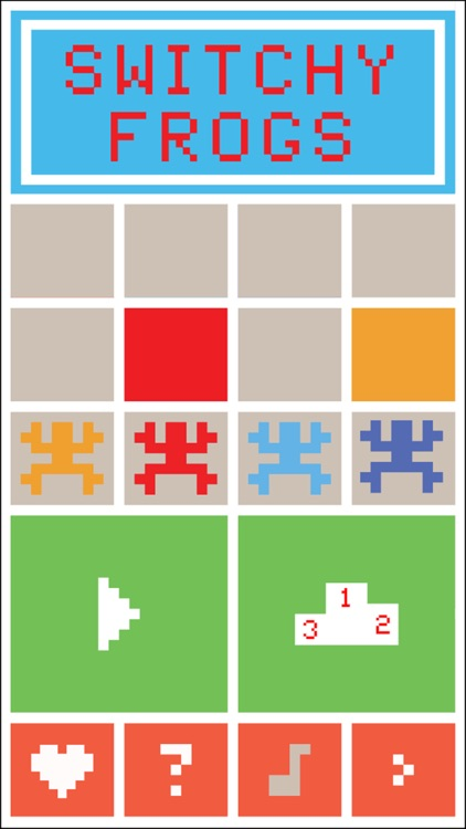 Switchy Frogs - A Jumpy Frog Game where 4 Sweet Froggy Jumpers Cross the Tiles