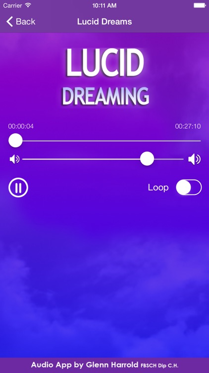 Lucid Dreaming Hypnosis by Glenn Harrold screenshot-2