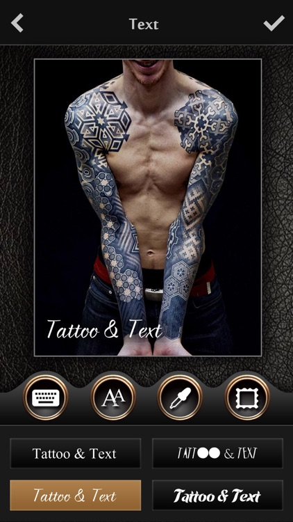 Tattoo Text Pro - Photo Editor to add tattoo on body art inked & artist fonts on pic