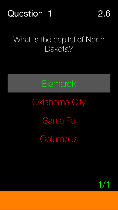 Against The Clock - American State Capitals screenshot two