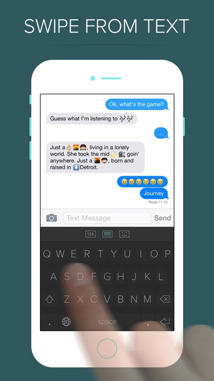 QWERKY - swipe keyboard for emoji, text, and numbers