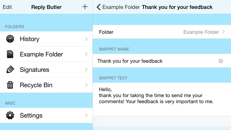 Reply Butler Lite - Text Snippets for Customer Support