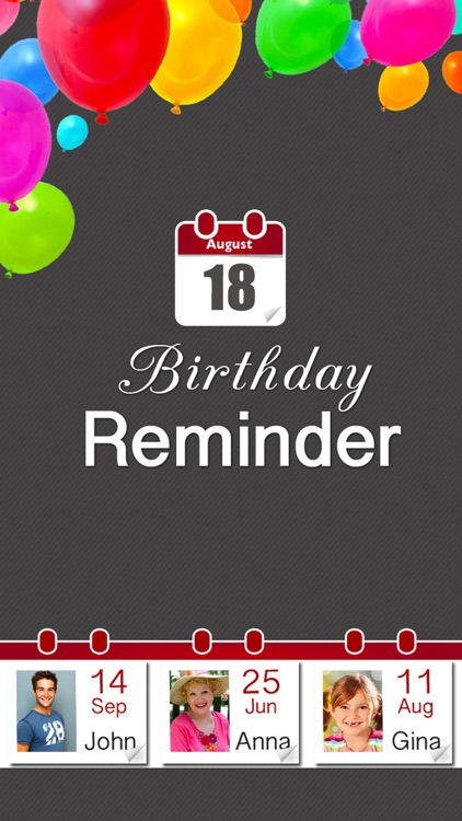 Birthday Reminder - Calendar and Countdown