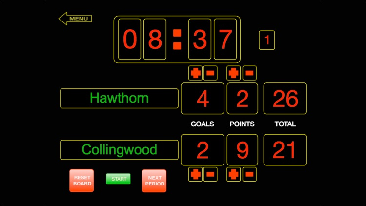 ScoreKeeper Scoreboard - iPhone screenshot-2