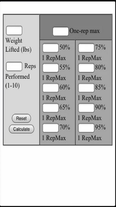 Lift Percentages screenshot one