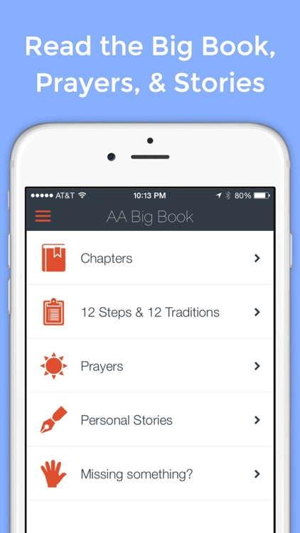Big Book App - Unofficial Tools for Alcoholics Anonymous