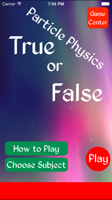 True or False Particle Physics - Test your knowledge of