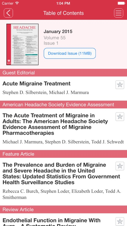 Headache:The Journal of Head and Face Pain