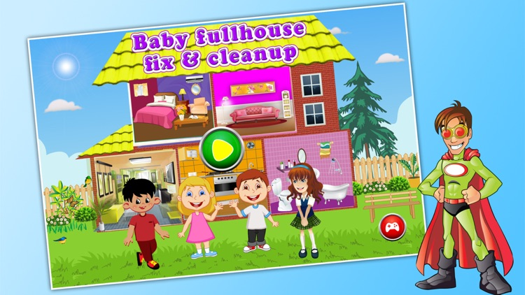 Baby Full House Fix & Cleanup - Play and Have Fun For Kids