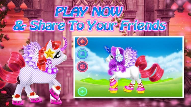 Pinkie Little Pony Dress Up - Play With Baby Horse Pet screenshot-4