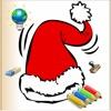圣诞节色素对的孩子们用彩笔 - 24图纸,圣诞老人,圣诞树,精灵,和更多的颜色