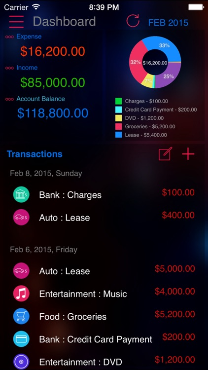 Expense Tracker Pro : Manager for Home budget, accounts and expenses