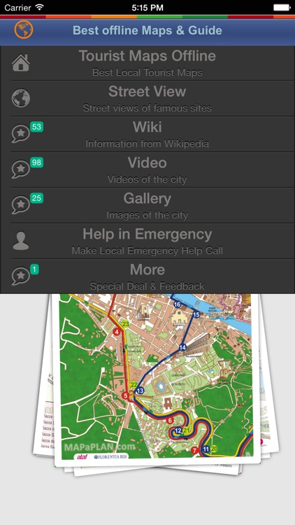 Florence Tour Guide: Best Offline Maps with Street View and Emergency Help Info screenshot-1