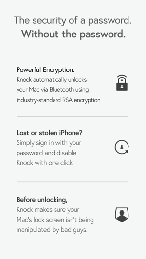 ‎Knock – unlock your Mac without a password using your iPhone and Apple Watch Screenshot