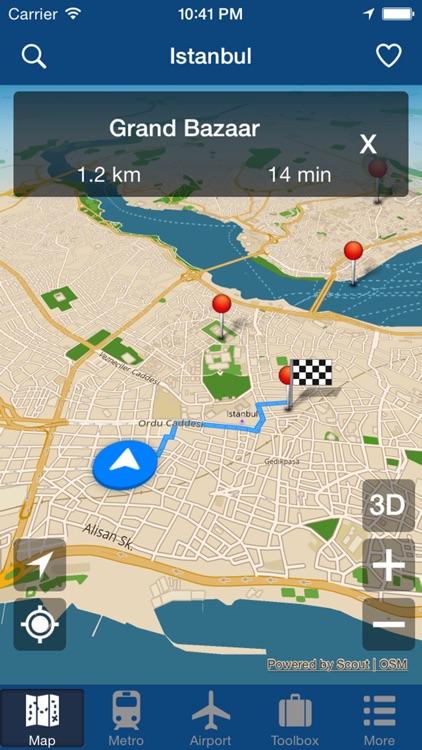 Istanbul Offline Map - City Metro Airport and Travel Plan screenshot-4
