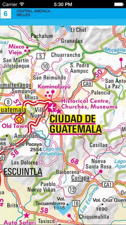 Central America. Tourist map. screenshot-3