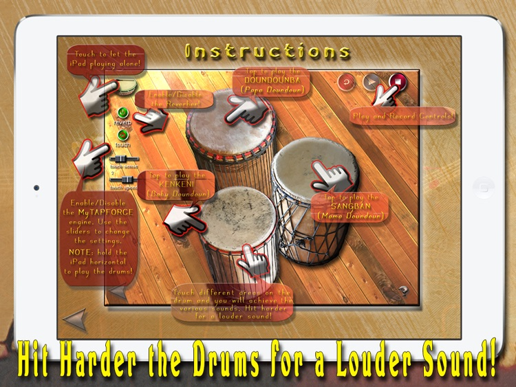 i Play My African Drums HD PRO screenshot-4
