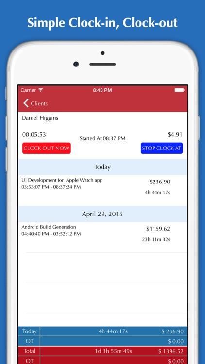 Time Tracker - Hours tracking, Timesheet, Invoice & Billing screenshot-0