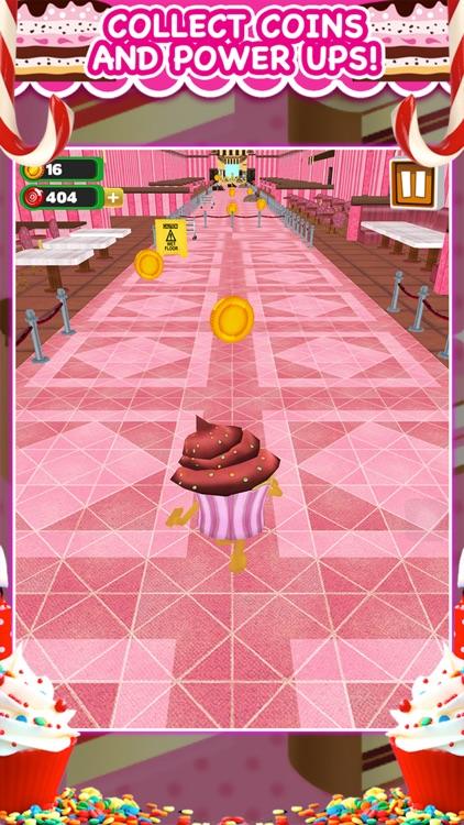 3D Cupcake Girly Girl Bakery Run Game FREE