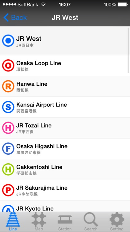 KANSAI Route Map