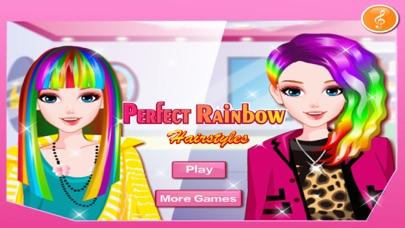 完璧な虹のヘアスタイルのスクリーンショット1