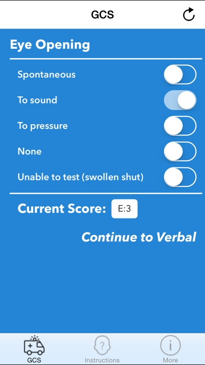 GCS 2015 - Glasgow Coma Scale Calculator screenshot-3