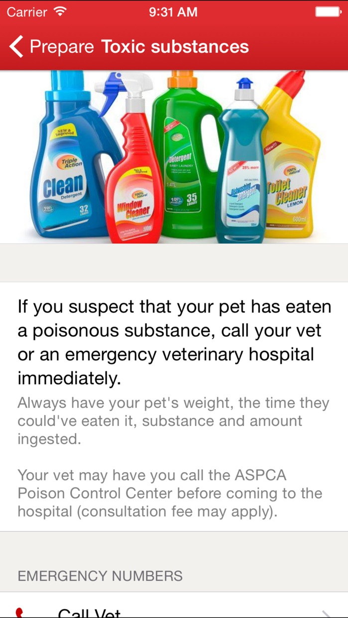 Pet First Aid by American Red Cross Screenshot