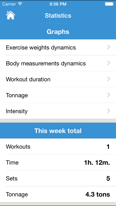 iGym PRO - Gym Workout Log. Exercise journal, bodybuilding & fitness routines for bulking & cutting, abs carving. Body measurements diary. Weight loss & mass tracker.のおすすめ画像5