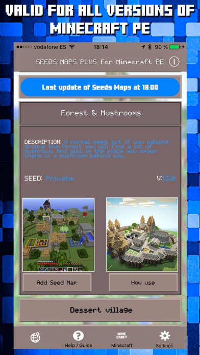 Seeds for Minecraft PE : Free Seeds Pocket Edition app image
