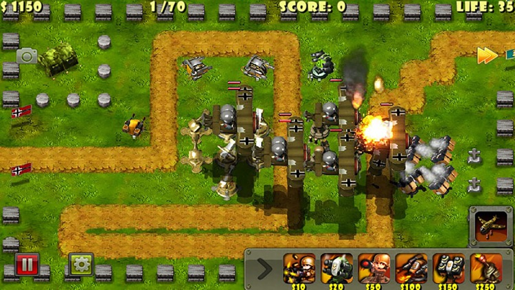 Little Commander - World War II TD screenshot-2