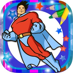 Paint magical superheroes -  Coloring and painting super heroes