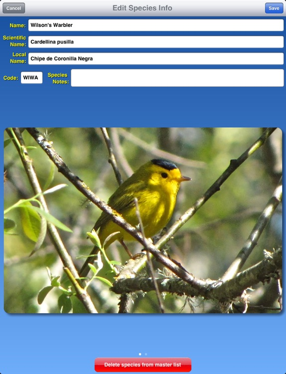 Birdwatcher's Diary for iPad screenshot-3