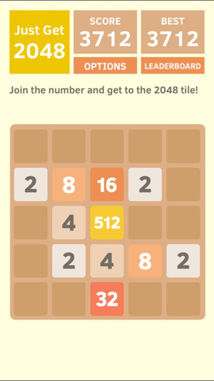 Just Get 2048 - A Simple Puzzle Game ! screenshot-0