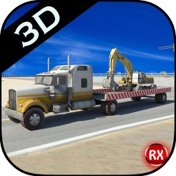 Heavy Equipment Transporter Truck - Excavator - Road Roller - Crane
