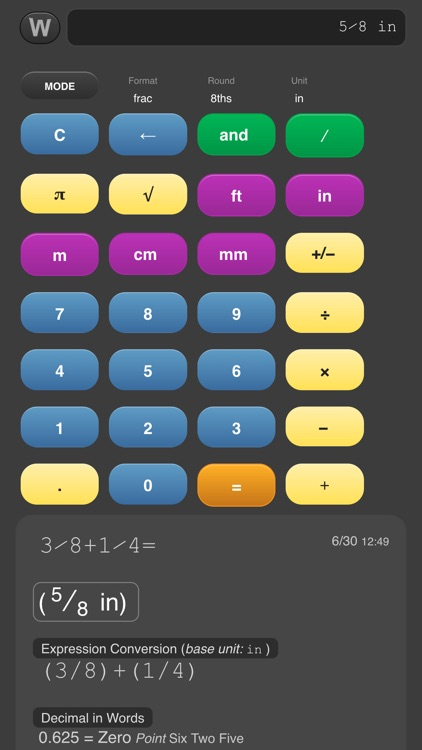 Workers Fraction Calculator Pro by Micah Wittman