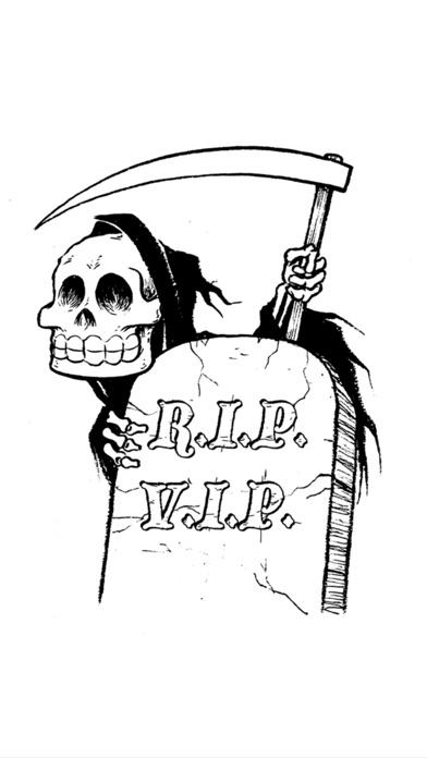 RIP VIP: The Death Alert App. Screenshot 1