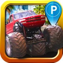 Monster Truck Parking Simulator - 3D Car Bus Driving & Racing Games