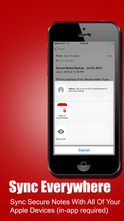 Secure Notes for iPhone, iPad, iPod & Watch screenshot-4