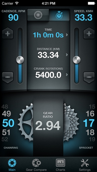 Bike Gear Calculator - Bike Gears, Cycling Gear Calculator, Bicycle Gear Calculator Screenshot 1