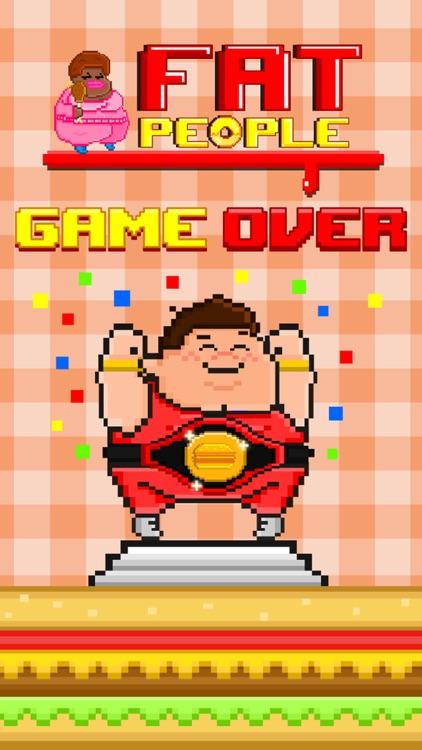 Fat People FREE GAME - Quick Old-School Retro Pixel Art Games screenshot-3