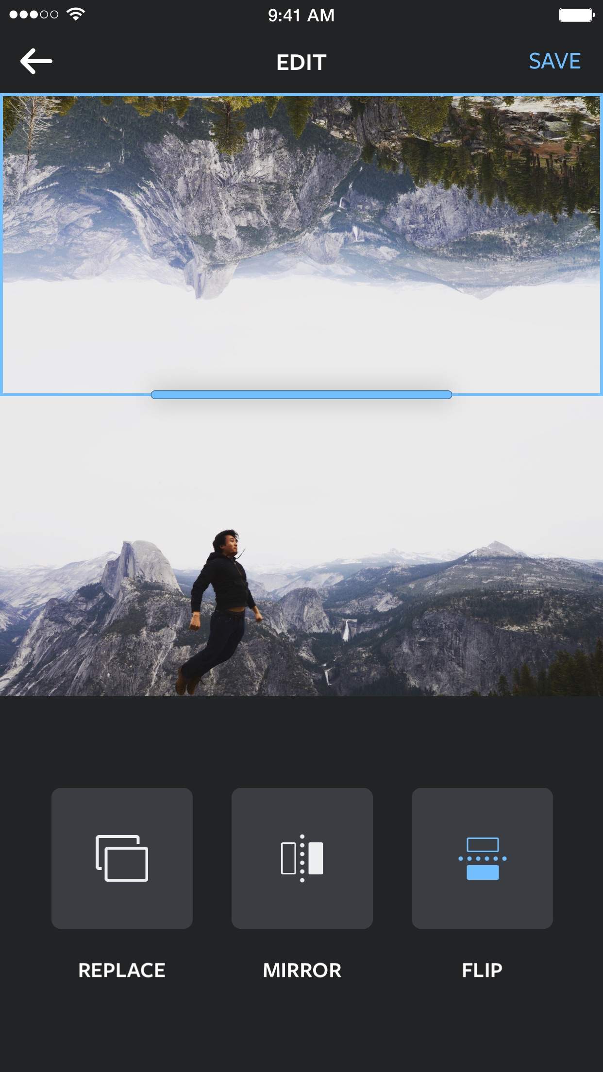 Screenshot do app Layout from Instagram