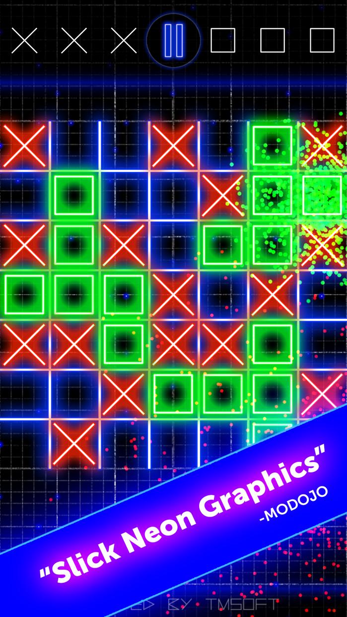 Tic Tac Toe Glow by TMSOFT Screenshot