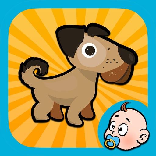 животные (animals) - обучающая пазл-игра для детей и малышей