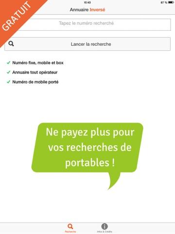 Screenshot #4 pour Annuaire Inversé Gratuit Portable, Mobile, Fixe et Box