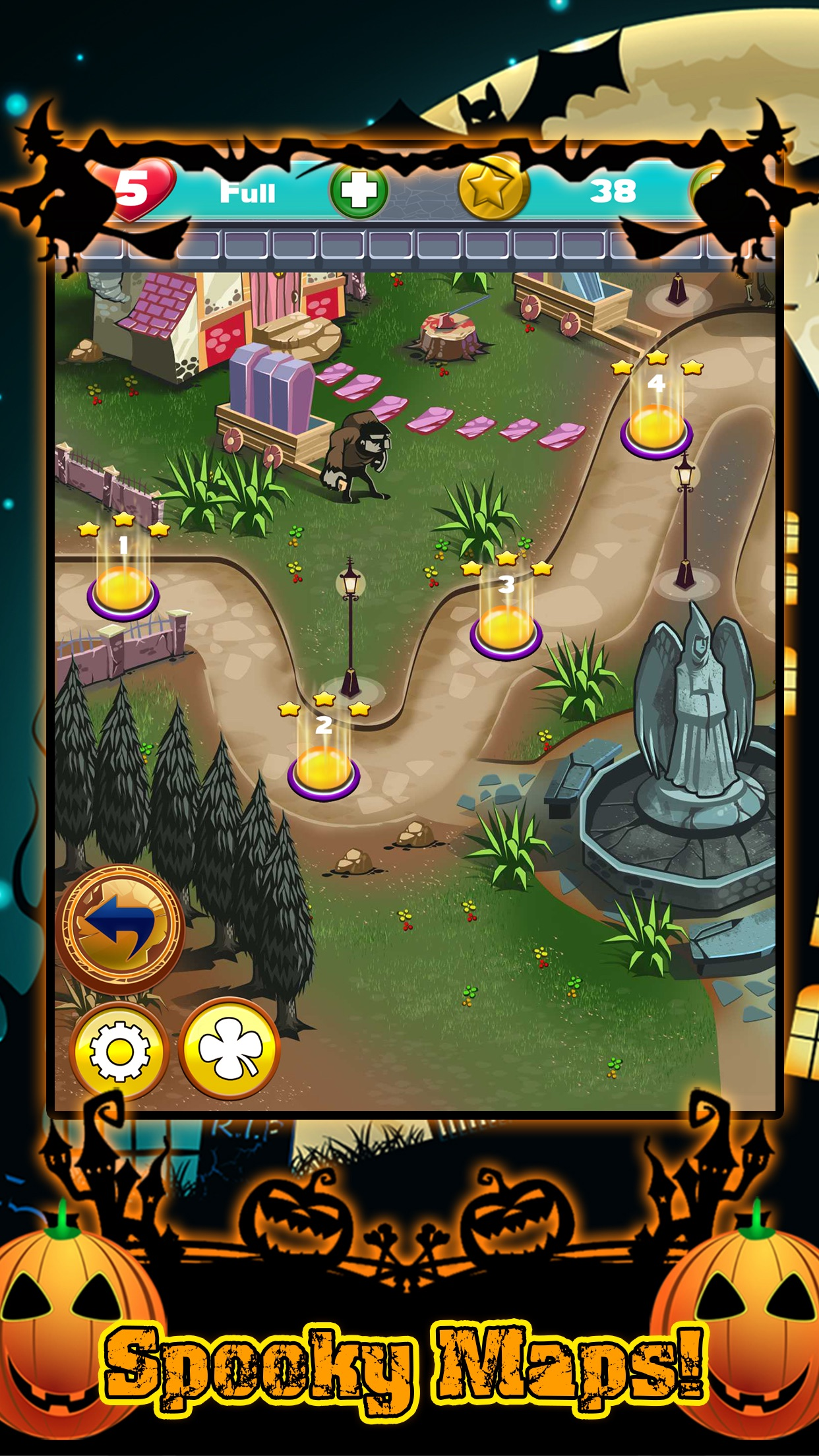 Halloween Match 3 Spooky Holiday Game FREE Screenshot