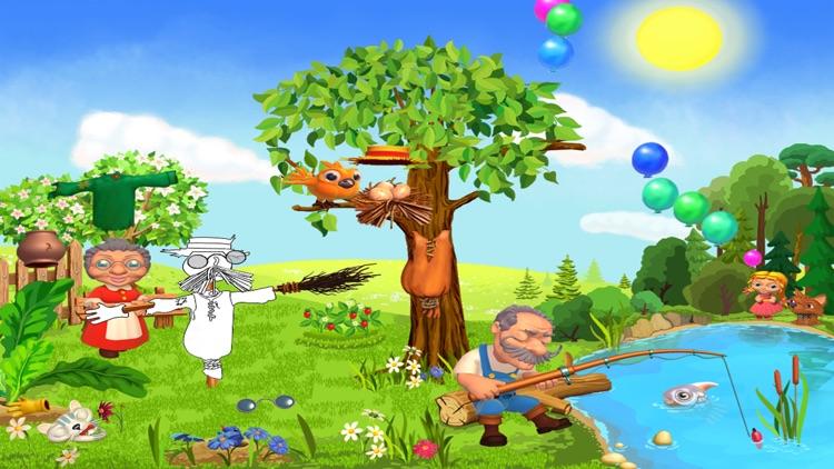 Репка - живая и добрая интерактивная развивающая сказка для детей.